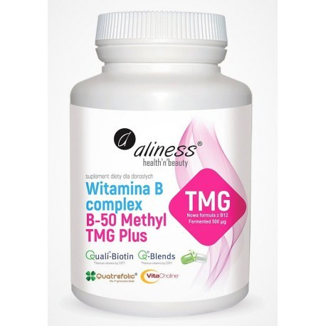 Witamina B Complex B-50 Methyl TMG PLUS  100 kapsułek Vege